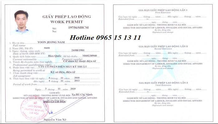 Trường hợp người lao động nước ngoài không thuộc diện cấp giấy phép lao động