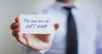 thẻ tạm trú cho nhân viên lãnh sự quán